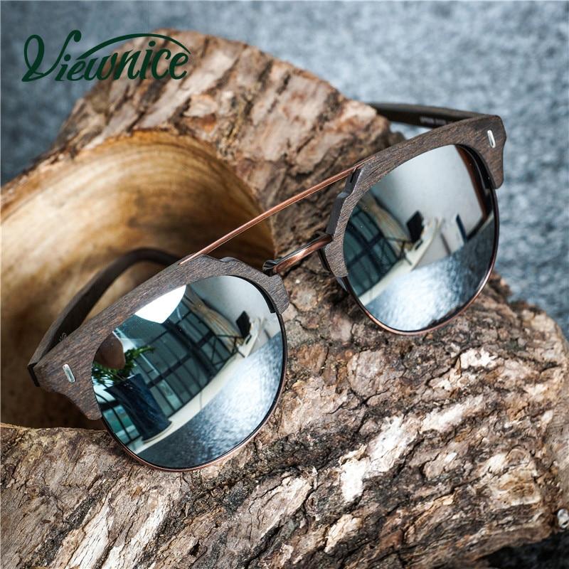 Viewnice 2018 Trä Solglasögon Man Retro Gafas de sol Designer - Kläder tillbehör - Foto 3