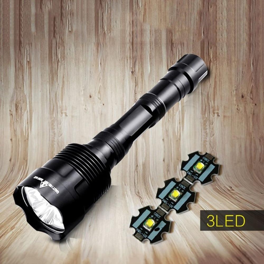 30 W Lampe De Poche Forte Lumière 3 Cree T6 Lampes De Poche Led Rechargeable Télescopique Zoom Lampe De Poche Flash Tactique Lumière 5 Modes Lumière Led