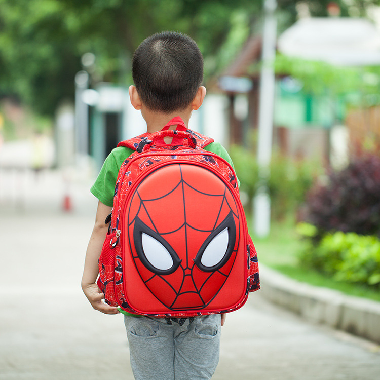 DDWB093 Hot! High Quality Lightweight Cartoon Spiderman Children School Bags Boys Backpacks Kids School Backpack Waterproof Bag