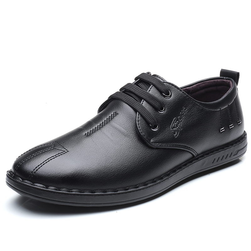RAZAMAZA Fashion Men Casual Leather Shoes High Quality Lace Up Shoes Daliy Vacation Essential Shoes Men Footwear Size 38-44