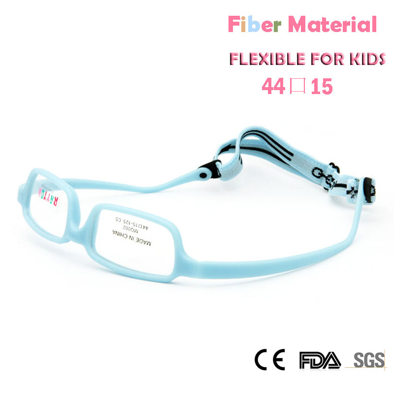 Childens Optical Glasses Frame Boys Flexible Kids Glasses With Strap Fiber Screwless Eyewear Oval Unbreakable 10pcs Men's Glasses