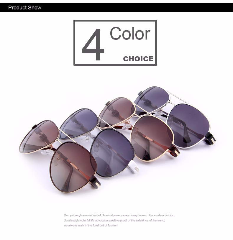 f730e4206b2 MERRYSTORE Fashion Women Polarized Sunglasses Brand Designer Alloy ...