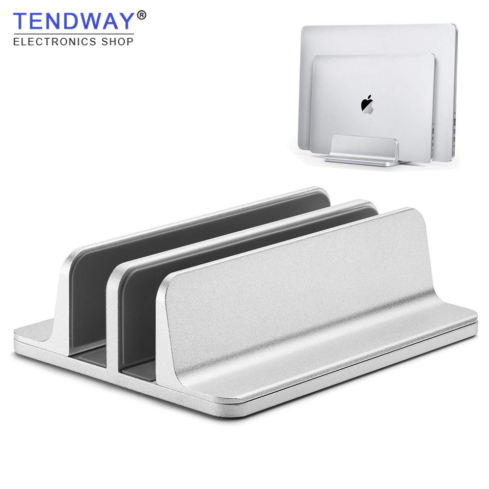 Tendway Vertical Laptop Stand for Macbook ProAir Space-saving Thickness Adjustable Notebook Holder Aluminum Desktop Laptop Stand все цены