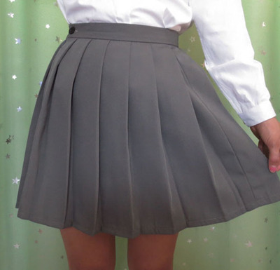 Japanese JK macarons pleated uniform skirt schoolgirl uniform skirt high waist solid color skirt multicolor