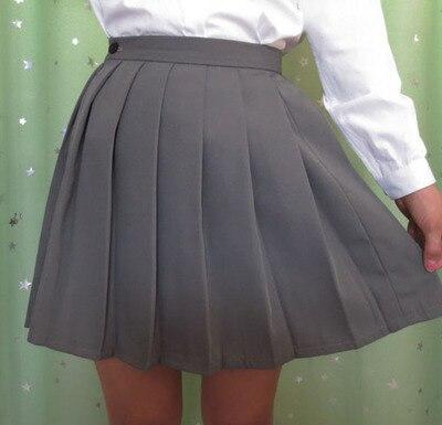 Japonesa JK macarons plisado uniforme falda colegiala falda uniforme de alta  cintura de color sólido falda multicolor en Faldas de La ropa de las  mujeres en ... d06d5543d641