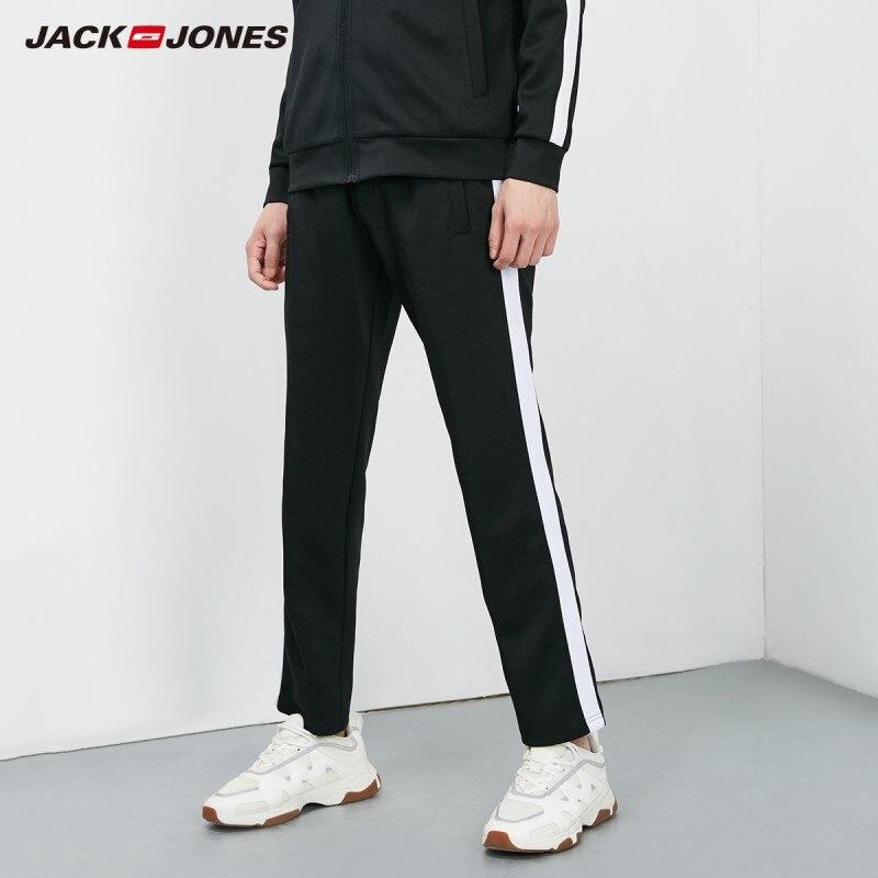 JackJones Men's Straight Fit Stretch Ankle-banded Sweatpants Sports| 219114527