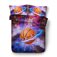 Fanaijia 3d Galaxy sport Bedding set king size kids basketball duvet cover set with pillowcase Bedline Home textile dog bed set