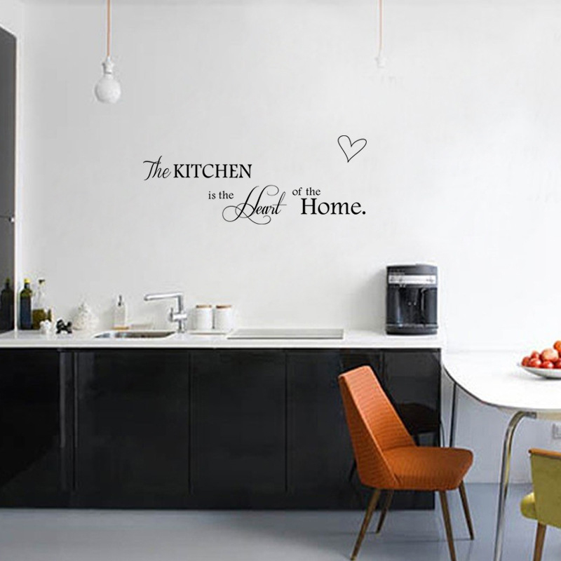 gallery of pcs cuisine stickers muraux mot lettrages coeur forme cuisine autocollant amovible. Black Bedroom Furniture Sets. Home Design Ideas