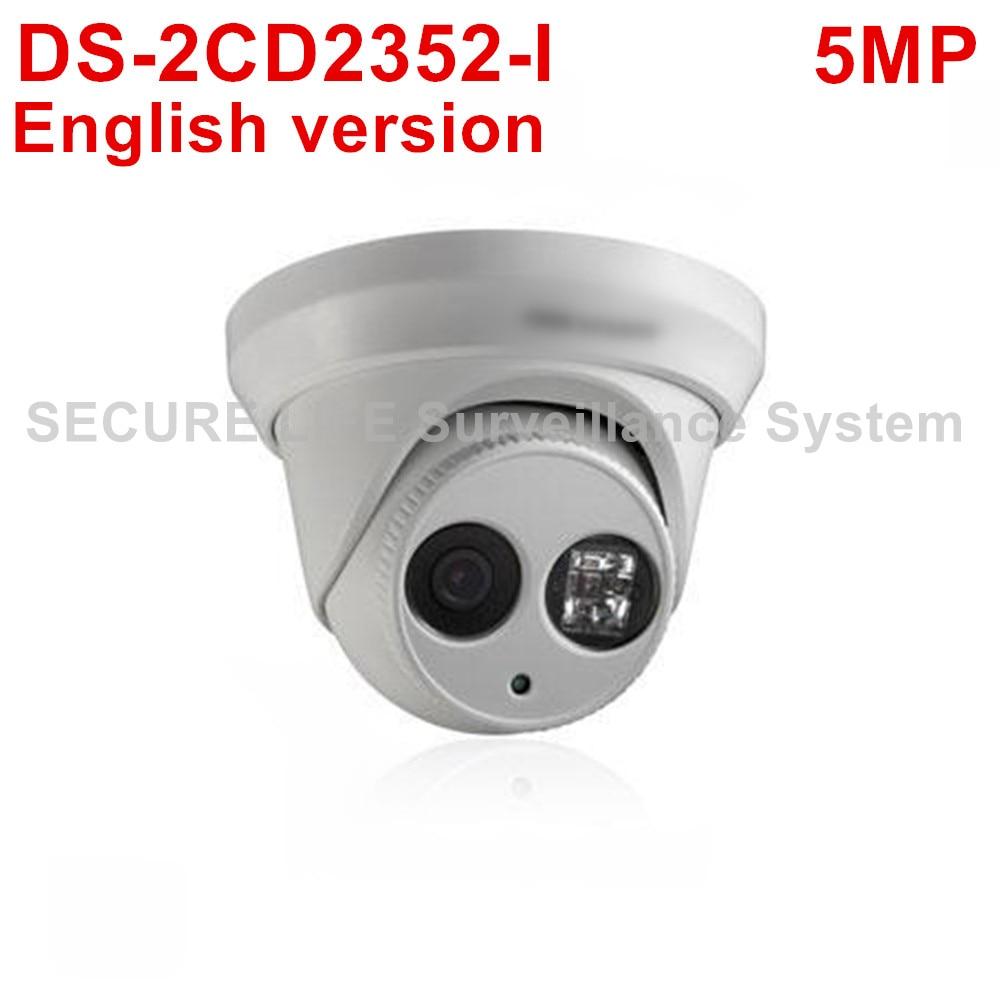 bilder für Dhl-freies verschiffen DS-2CD2352-I Englisch version 5MP WDR EXIR revolver netzwerk ip überwachungskamera POE mit bis zu 30 mt IR