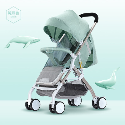 Baby Stroller Ultra-lightweight 5.6KG Easy To Fold Can Sit Reclining Body Shock Absorption Compact And Lightweight