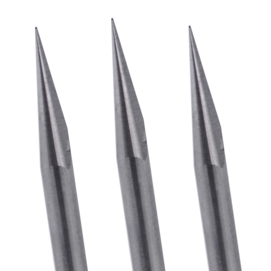 10x V-Shape Tungsten Steel 15 Degree 0.1mm PCB Engraving Bit CNC Router Tool Kit