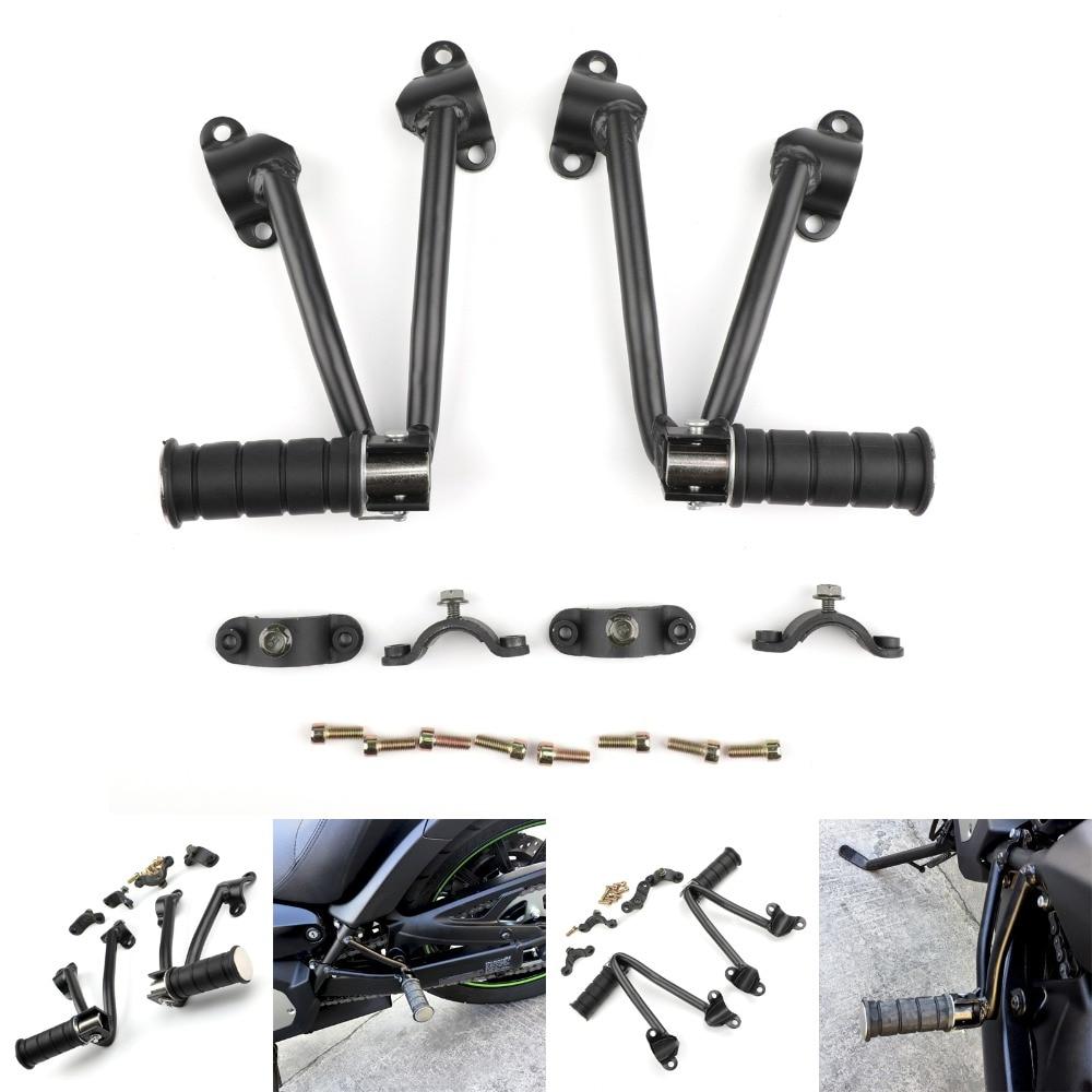 Areyourshop Motorcycle Rear Passenger Foot Peg Bracket For Kawasaki Vulcan 650 VN650 2015 Black Motorbike Part