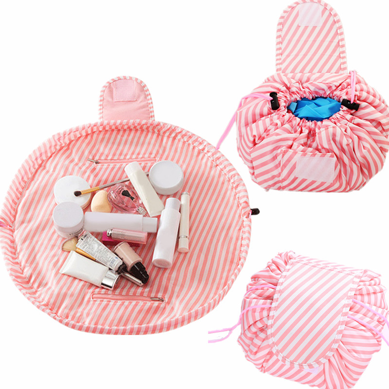Women Magic Drawstring Cosmetic Bag Travel Organizer Lazy Make up Cases Pouch Toiletry Kit Tools Wash Storage Accessory Product lazy cosmetic bag travel flamingo make up bag women portable korea drawstring bulk storage magic makeup bag wash bags organizer