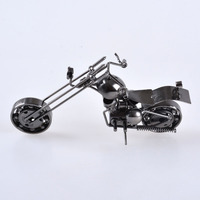 LS Hand Made Wrought Iron Craft Yamaha Model Unique Gifts Rotatable Wheel Head