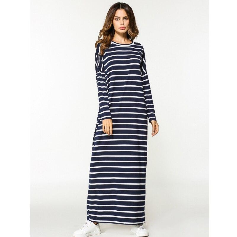 2020 Eid Abaya Kaftan Dubai Turkey Robe Arabic Long Striped Hijab Muslim Dress Women Elbise Turkish Islamic Clothing Vestidos