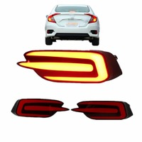 Car Accessories Multi Function LED Rear Bumper Light Brake Light For Civic 2016 2017 Car Styling