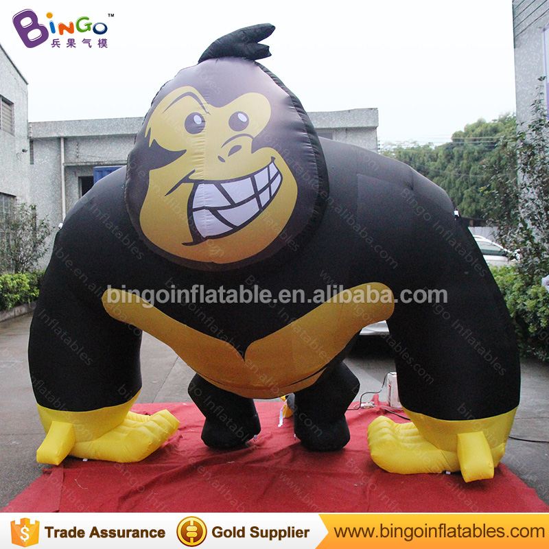 Customized decorative 2.5 meters giant inflatable monkey gorilla promotional blow up orangutan replicas for display toysCustomized decorative 2.5 meters giant inflatable monkey gorilla promotional blow up orangutan replicas for display toys