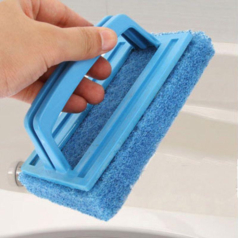 Environmental protection thickening Durable Handle Sponge Bottom Cleaning Brush Bath Brush Nano Ceramic Bowl Pan Tile Sponge Era