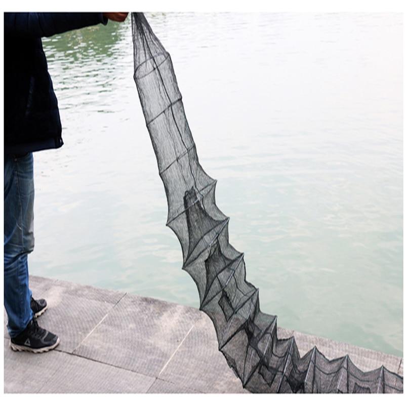 Lawaia Foldable Cage Net Black Shrimp Cage Fishing Nets Catcher Trap Mesh Small Fishing Crab Nets