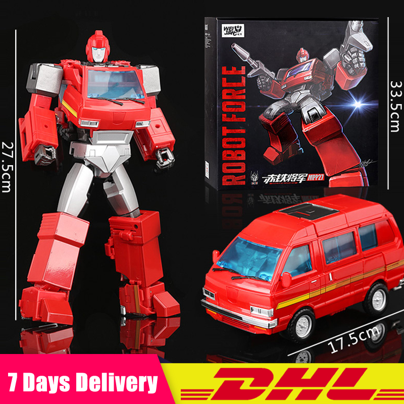 WJ WeiJiang DHL Transformation Ironhide Oversize MPP27 TF 5 Alloy Metal Enlarge MP27 Leader Action Figure Robot Collection Toys weijiang deformation mpp10 e mpp10 eva purple alloy diecast oversized metal part transformation robot g1 figure model in box