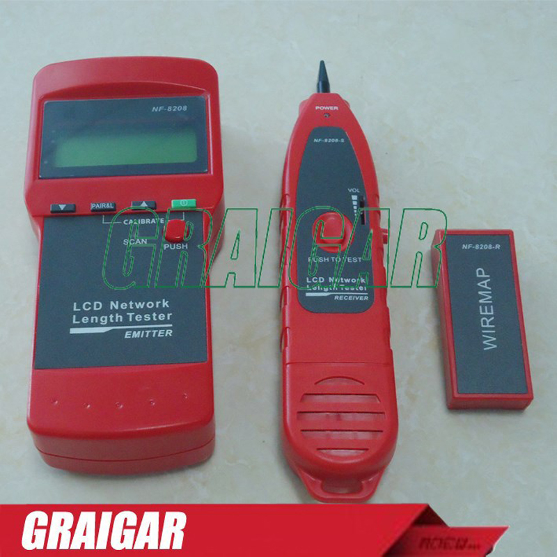 NF-8208 LCD Display Network LAN Wire Tracker Tracer Length TesterNF-8208 LCD Display Network LAN Wire Tracker Tracer Length Tester