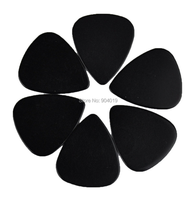 Lots Of 100 Pcs New Heavy 096mm Blank Guitar Picks Plectrums Celluloid Solid Black
