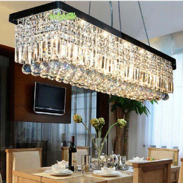 Moderne Led Kristall Pendelleuchte Esszimmer Wohnzimmer Home