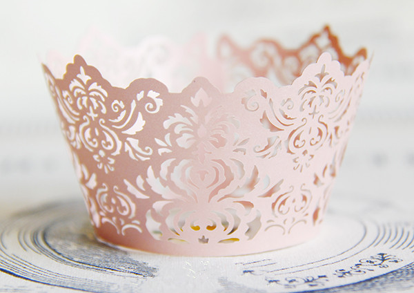 mini wedding cakes shipped free shipping pink royal lace wedding cupcake wrappers 17430