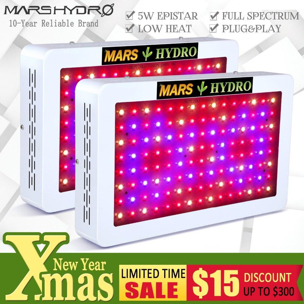 2 pz Mars Hydro 600 w LED Coltiva La Luce Spettro Completo Idroponico Sistema di Impianto Al Coperto per Crescere Tenda, Serra