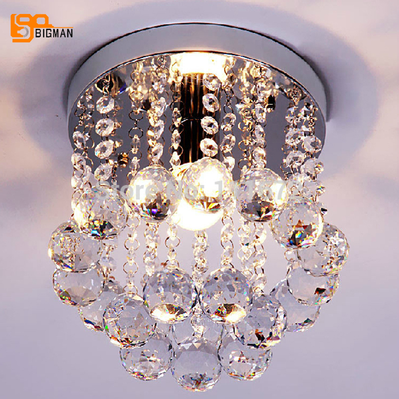 hot sale guarantee 100% modern round crystal chandelier hallway light kitchen crystal lamp цена