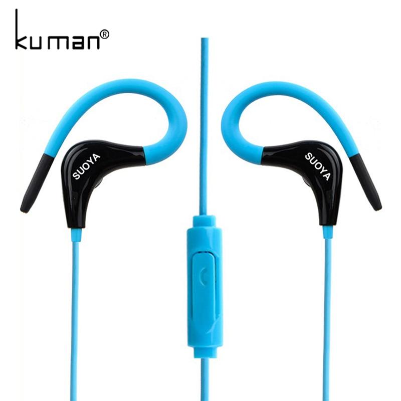Kuman Sports Headphone Ear Hook Headset Bass In Ear Earphone Earbuds With Microphone For Xiaomi Mp3 Phone PC Gaming YL-HW24