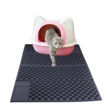 Two-color Double-sided Cat Litter Mat / Foldable Cat Litter Mat Cat Litter Pet Catcher High Quality Moisture-proof 1 Pcs