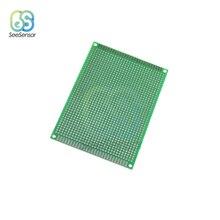 Двухсторонний прототип печатной платы 8x12 см универсальная печатная плата экспериментальная макетная плата для Arduino 80x120 мм
