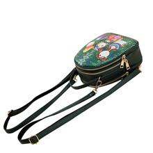 Three Grids Zipper Schoolbag Backpack Women Forest Girls Pattern Printing Backpack Ladies Large Capacity Mini Backpacks 9.5#23