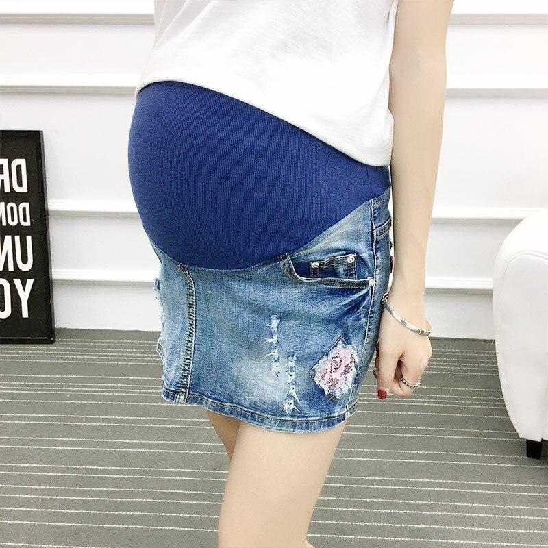 ea0b6663063d1 Plus Size Maternity Clothing Summer Pants Fashion Shorts Belly Basic Jeans  Woman Pregnant Women Pregnancy Clothes