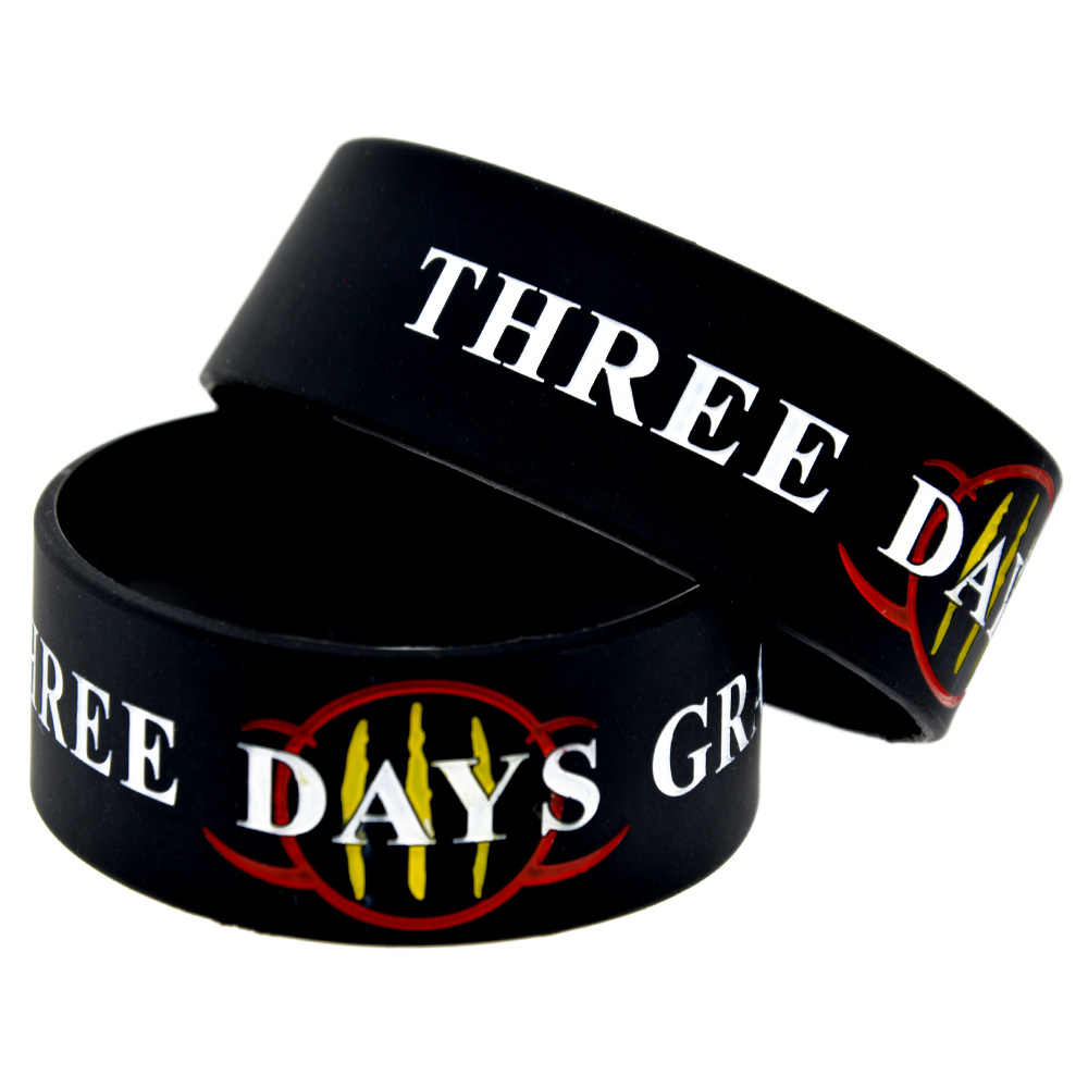 1PC One Inch Wide Three Days Grace Silicone Bracelet for Music Fans