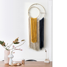 30cm*80cm Nordic Hand-woven Macrame Dyed Tapestry Wall Hanging Living Room Bedroom Study Mexican Home Decoration Wall Tapestry