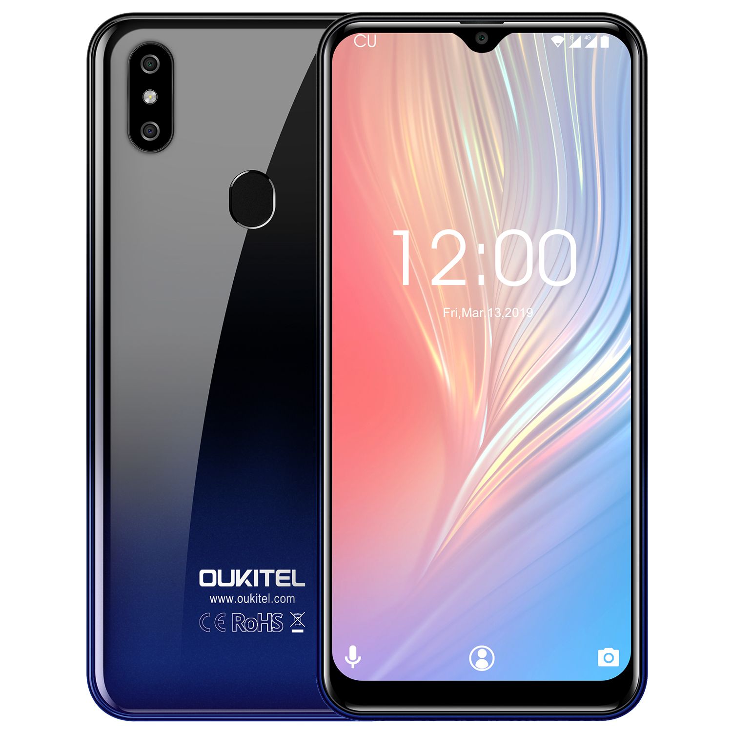 OUKITEL C15 Pro+ 6.088'' 19:9 Android 9.0 Pie 3GB 32GB MT6761 Waterdrop Smartphone Fingerprint Face ID 5G WiFi 4G Mobile Phone