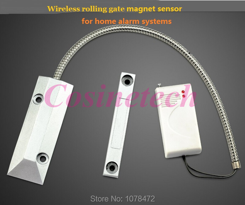 433MHZ 315MHZ Wireless Rolling gate Sensor,Garage magnetic detector,iron gate sensor can work with Home Security Alarm Systems wireless rolling garage door sensor compatible with all of our home alarm system