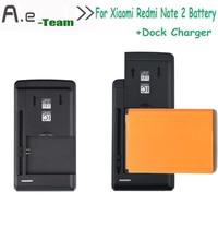 For Xiaomi Redmi Note 2 Battery Bm45 3020mah Backup Battery Dock charger For Xiaomi Redmi hongmi