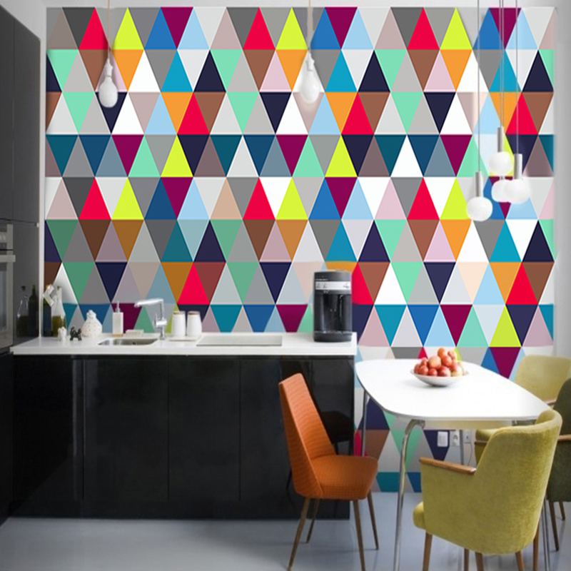 Custom Mural Non-woven Wallpaper Modern Minimalist 3D Stereo Abstract Geometric Lattice Wall Decorations Living Room Wallpaper
