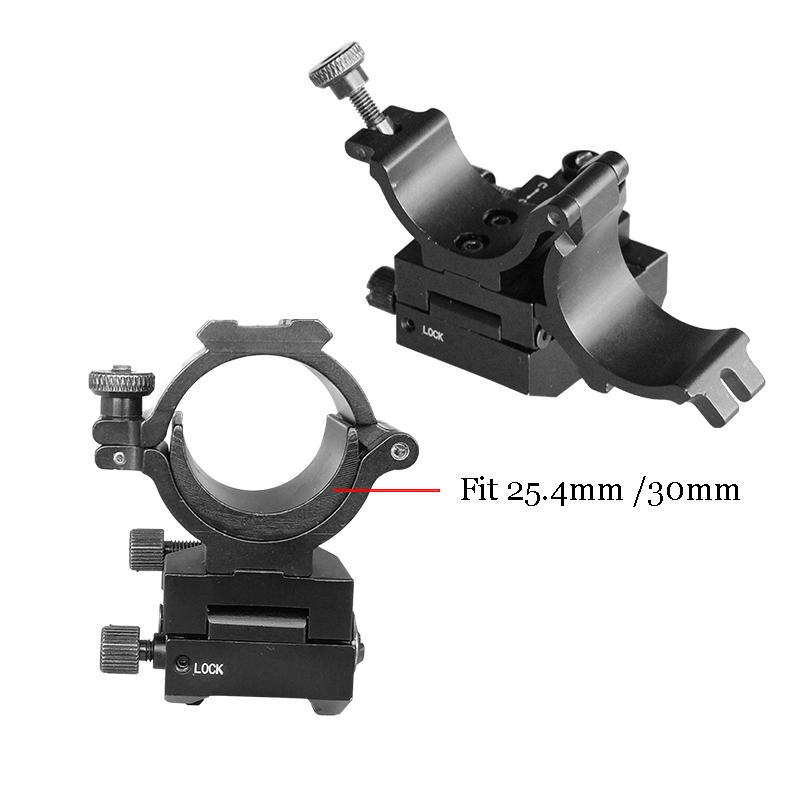 Hunting Tactical Gun Mount Scope Ring 30Mm Airsoft M4 Ar15 Ak47 Rifle Picatinny Rail Windage Elevation Adjustable Scope Mount image