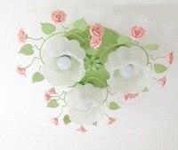 Цветок розы светодиодный подвесной светильник облако матовым стеклянным абажуром поглощают простой ужин лампа гостиная спальня лепестки