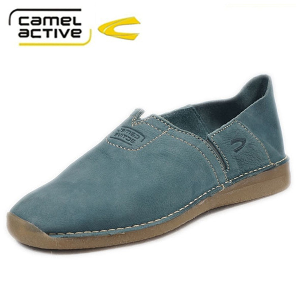 dc9919d9f094 Women shoes Camel Active brand made in italy Genuine Leather Casual flat Shoes  handmade british style shoes