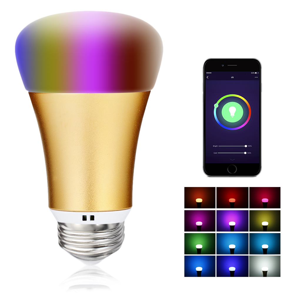 TP007 E27 / B22 Bluetooth Smart WiFi LED Light Bulb App Control Dimmable Color Changing For Decor Christmas Party Lighting s15 smart led bulb bluetooth 4 0 speaker app control support