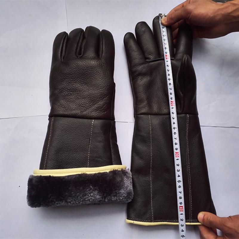 Envío gratis venta caliente alargar 42 cm guantes de cuero genuino - Juegos de herramientas - foto 5