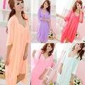 Hottest Fashion  Dress Accessories New Sexy Girls Women Sling Lingerie Sleepwear 2pcs sleep Dress Silk Robe Nightgown