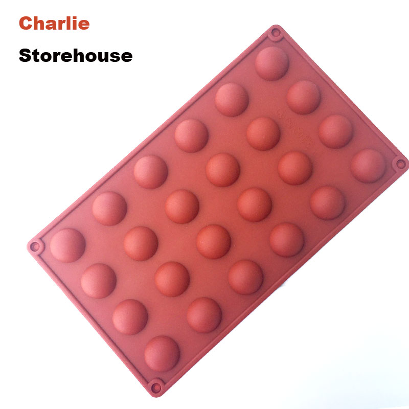 DIY Chocolate Mold 24Holes 3CM Diameter Half Ball Sphere Shape Muffin Cake Mold Jelly Icing Soap Mold Silicone Tray Baking Tool