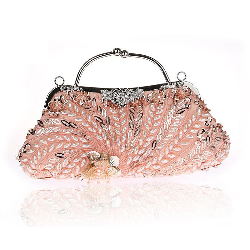 Exquisite Clutch Sequin Evening Bag Ladies Banquet Bag Clutch Bag Evening Dress Bag Evening Package Color : Champagne