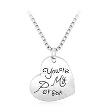 """""""You are my person"""" Letter Statement Necklace Valentine's Day Valentine Pendant &Necklace collier femme jewelry Best Friend Gift"""